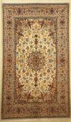 Esfahan fein, Persien, ca. 60 Jahre, Korkwolle auf