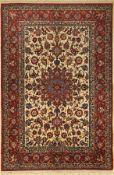 Esfahan fein, Persien, um 1930, Korkwolle auf Baumwolle,