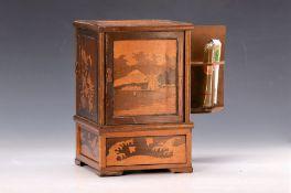 Zigarrenspender, deutsch, um 1900, Holzgehäuse,