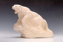 Große Skulptur, Longwy, Frankreich, um 1930, Keramik,