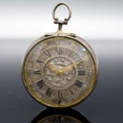 Ja. WALKER London Spindeltaschenuhr in Silber, um 1700,