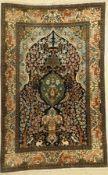 Ghom Kork, Persien, ca. 50 Jahre, Korkwolle, ca. 202 x