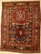 Kazak antik, Kaukasus, um 1910, Wolle auf Wolle, ca. 178