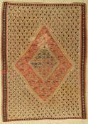 Senneh Kelim antik, Persien, um 1910, Wolleauf