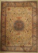 Täbriz fein, China, ca. 50 Jahre, Korkwolle, ca. 409 x