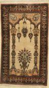 Ghom Seide alt, Persien, ca. 60 Jahre, reine Naturseide,