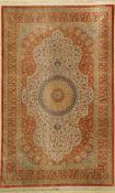 Ghom Seide fein Signiert, Persien, ca. 40 Jahre, reine