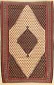 Senneh Kelim alt, Persien, ca. 50 Jahre, Wolle auf