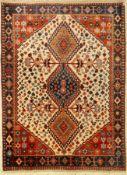 Yalameh alt, Persien, ca. 50 Jahre, Wolle auf Wolle, ca.