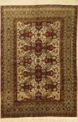 Kazak alt (Seychur), Kaukasus, ca. 50 Jahre, Wolle auf