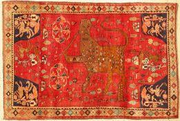 Gabbeh alt, Persien, um 1950, Wolle auf Wolle, ca. 173 x