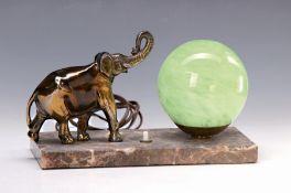 Tischlampe, Frankreich, 1930er Jahre, Marmorsockel,