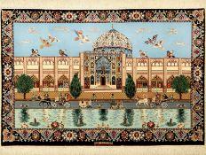 Esfahan fein Persien, Signiert(Heidari), ca. 40 Jahre,