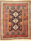 Afschar antik, Persien, um 1910/1920, Wolleauf Wolle,