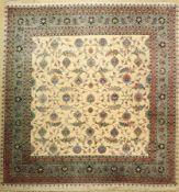 Täbriz fein(50 Raj), Persien, ca. 50 Jahre,Korkwolle mit