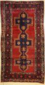 Kazak antik, Kaukasus, um 1910, Wolle auf Wolle, ca. 300