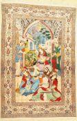 Esfahan fein, Persien, ca. 50 Jahre, Korkwolle mit und