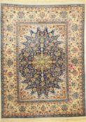 Esfahan fein, Persien, ca. 60 Jahre, Korkwolle mit und