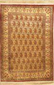 feiner Seidenteppich, Ägypten, ca. 60 Jahre, reine