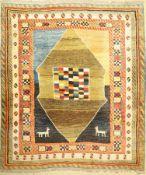 Gabbeh alt,   Persien, ca. 40 Jahre, Wolle auf Wolle, ca.