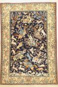 Ghom alt,   Persien, ca. 50 Jahre, Wolle mit Seide, ca.