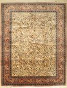 Sarogh Kork,   Indien, ca. 50 Jahre, Korkwolle, ca. 304 x
