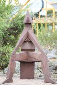 Skulptur, Andreas Helmling,  Eisen/Metall, in Machtpose,