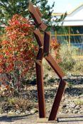 Skulptur, Andreas Helmling,  Eisen/Metall, in zwei jeweils
