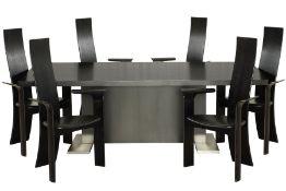 Esstisch mit 6 Stühlen, Dänemark,  Eiche massiv u.