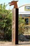 Skulptur, Andreas Helmling,  Eisen/Metall, obeliskartige