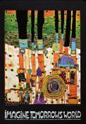 Friedensreich Hundertwasser, 1928-2000,  Kunstdruck mit