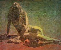 Luc Grun, geb. 1936, französischer Künstler, sitzender Akt