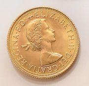 Goldmünze, Sovereign, Großbritannien, 1967,  Elizabeth