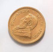 Goldmünze, Krügerrand, Südafrika, 1973,   Springbock,
