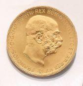 Goldmünze, 100 Kronen, Österreich-Ungarn, 1915,  Franz