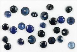 Lot lose, blaue, rundfacett. Saphire zus. ca. 17.4 ct