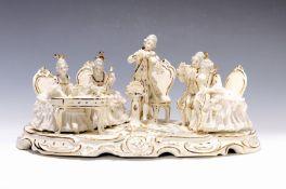 Porzellangruppe, Dresden, 2. H. 20. Jh.,  üppige