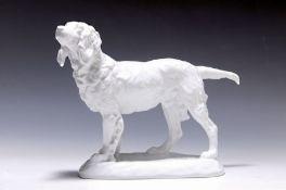 Große Hundeskulptur, Herend, Entwurf Vastagh György,