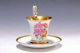 Tasse mit Untertasse, Meissen, um, 1810/20,  Porzellan,