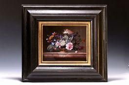 Porzellanbild, Willem van Aelst, Plaue, 20. Jh.,  'Vase de