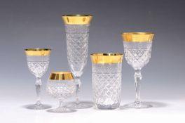 32-tlg. Gläserset, Josephinenhütte, 20. Jh., Kristallglas