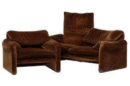 Sitzgruppe, 'Cassina', made in Italy,  Modell: Maralunga,