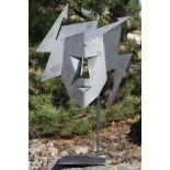 Skulptur, Andreas Helmling, Eisen/Metall, dem Dreieck