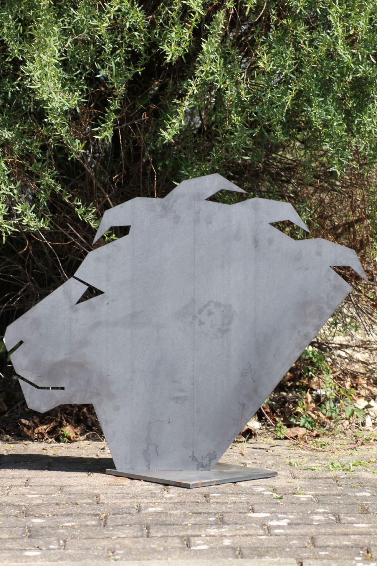 Skulptur, Andreas Helmling, Eisen/Metall, Kopf in den