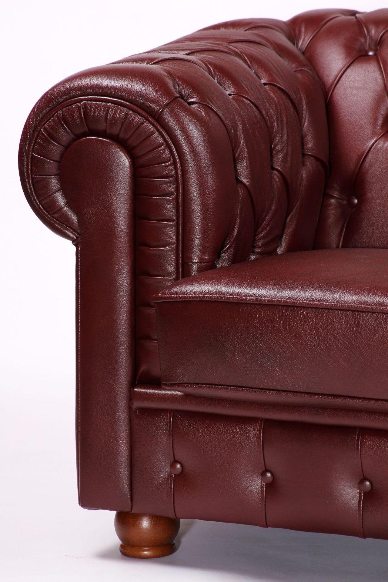 3-Sitzer Sofa, im Chesterfield-Stil, ausgesuchtes - Image 3 of 3
