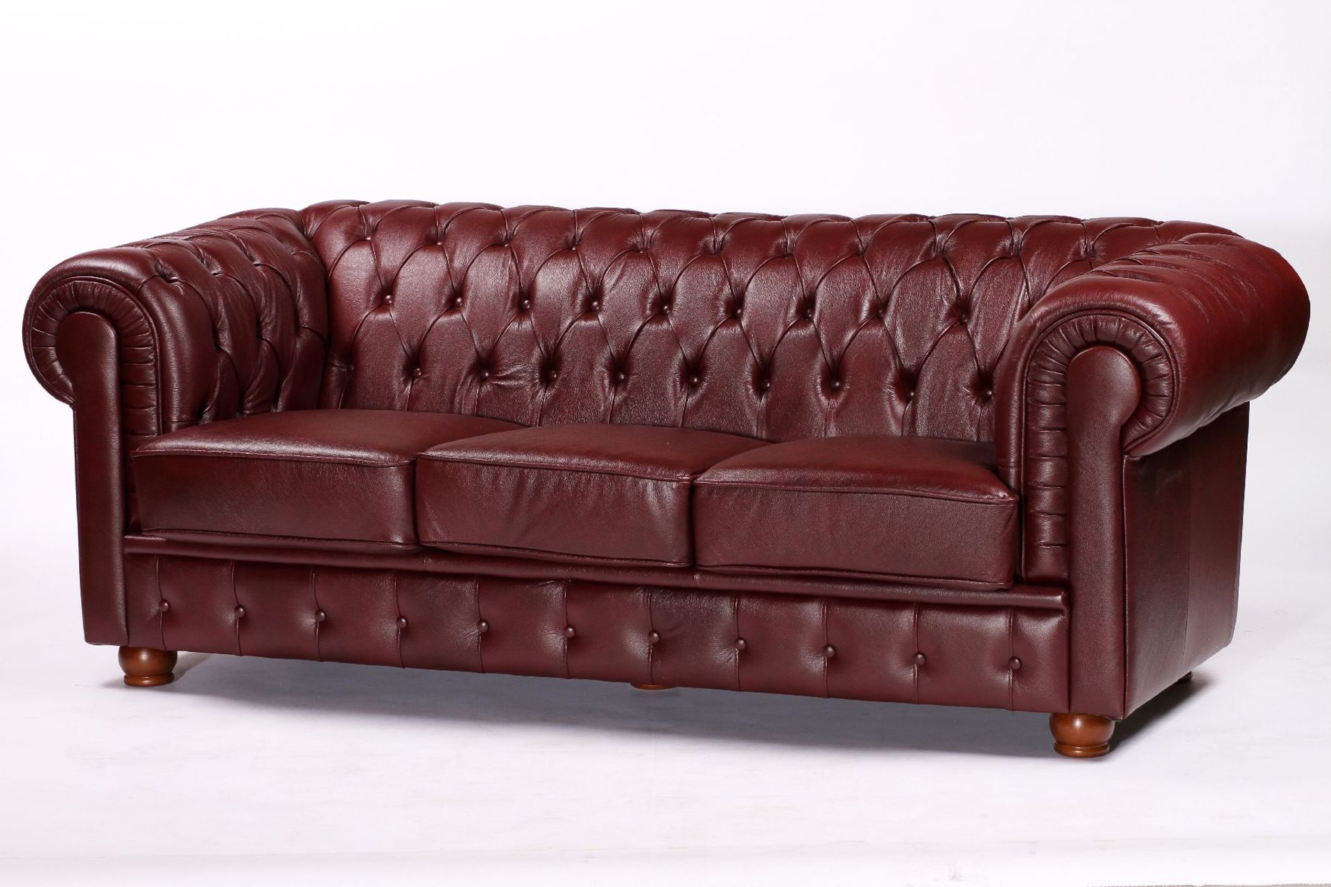 3-Sitzer Sofa, im Chesterfield-Stil, ausgesuchtes - Image 2 of 3