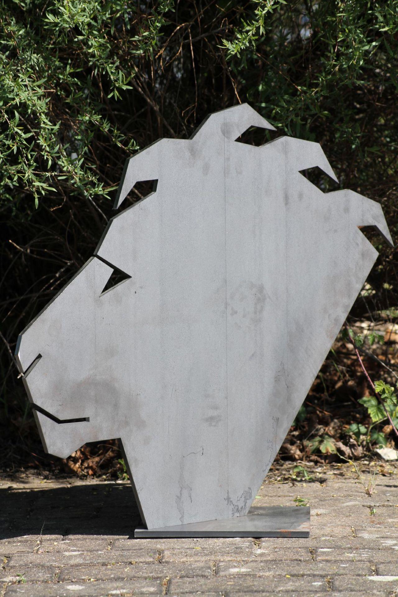 Skulptur, Andreas Helmling, Eisen/Metall, Kopf in den - Image 2 of 2