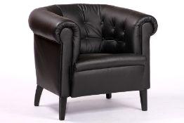 Sessel, nach engl. Vorbild gearbeitet,  ausgesuchtes
