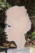 Skulptur, Andreas Helmling,  Eisen, Silhouette einer Frau,