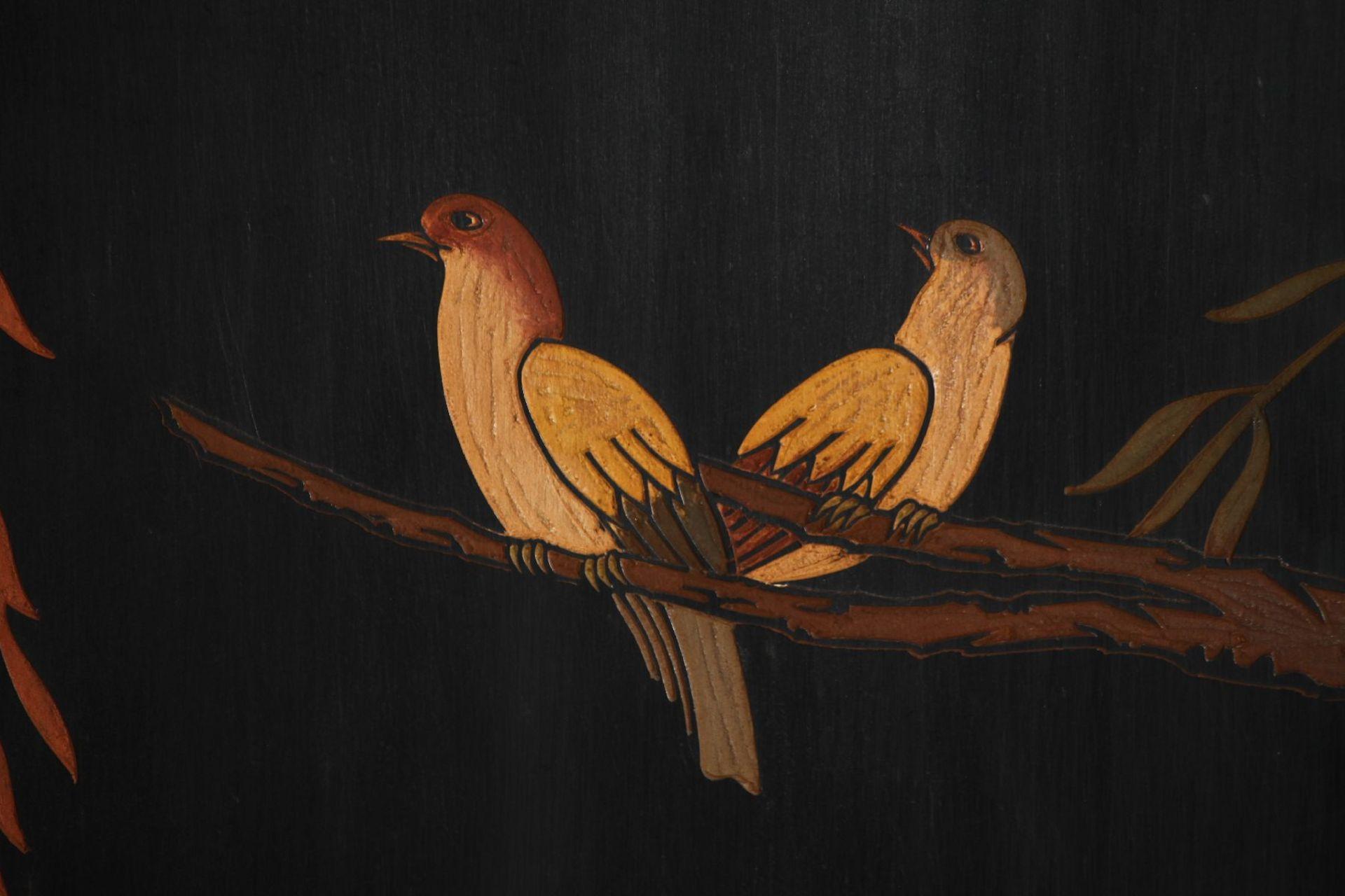 Paravent, nach chin. Vorbild des 16. Jhd., Front in - Image 7 of 7